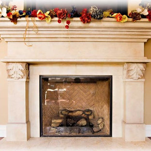 traditional stone fireplace, by Bay Area residential contractor