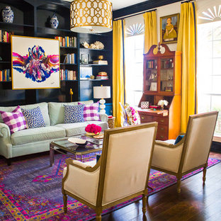 Traditional Vibrant Living Room