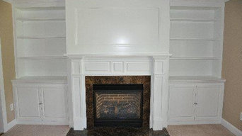Traditional  Wall with Direct Vent  Fireplace