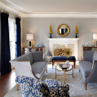 Navy Gold Living Room Ideas & Photos | Houzz