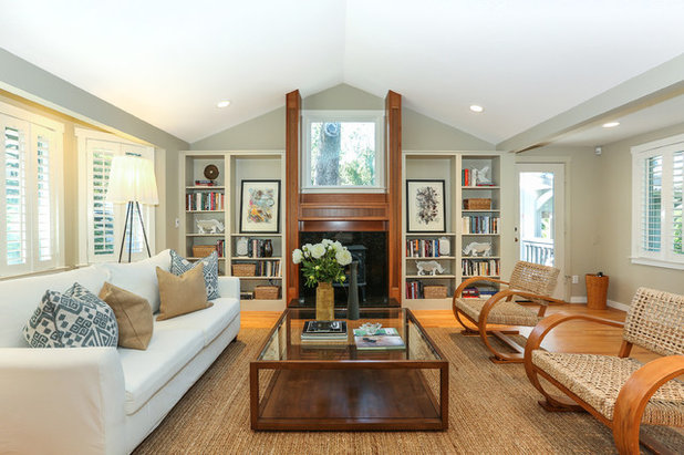 Traditional Living Room Traditional Wooded Cottage in Kentfield