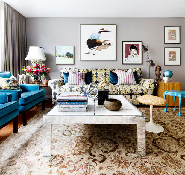 Eclectic Living Room by Brett Mickan Interior Design