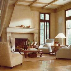 Mediterranean Living Room by Barnes Vanze Architects, Inc