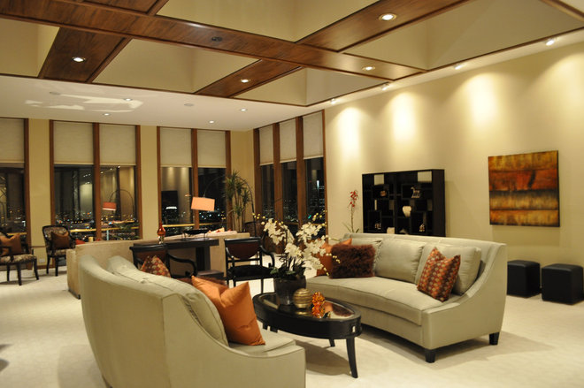 Contemporary Living Room by Transformations