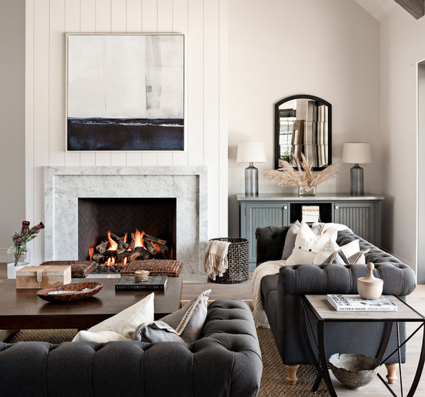 Country Living Room by CJ Gershon Photography