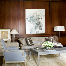 Traditional Living Room by Robert Brown Interior Design