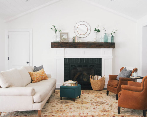 Dark Wood Fireplace Mantel | Houzz