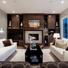 Transitional Living Room by Capstone Custom Homes