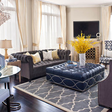 Transitional Living Room by Jeneration Interiors
