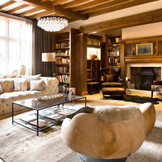 Transitional Family Room by A-Interiors LLC