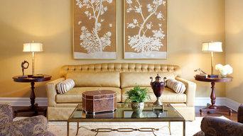 Transitional Golden Warm Living Room