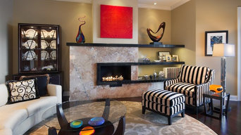 Transitional Home with Artistic Flair