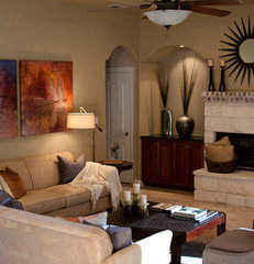contemporary living room by Adentro Designs