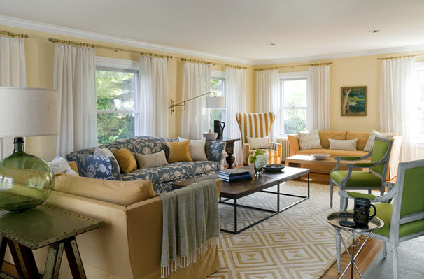 Transitional Living Room by Andrew Suvalsky Designs