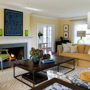 Inspiration for a transitional living room remodel in Providence