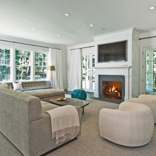 Transitional Living Room by Benco Construction
