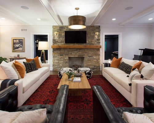 Inspiration For A Large Transitional Formal Dark Wood Floor And Brown Living Room Remodel In