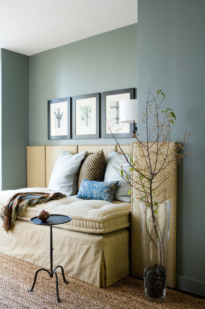 Transitional Living Room by Wells & Fox