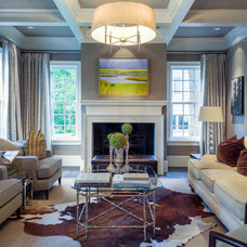 Transitional Living Room by Drew Steven Photography