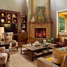 Transitional Living Room by Garrison Hullinger Interior Design Inc.