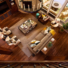 eclectic living room by Garrison Hullinger Interior Design Inc.