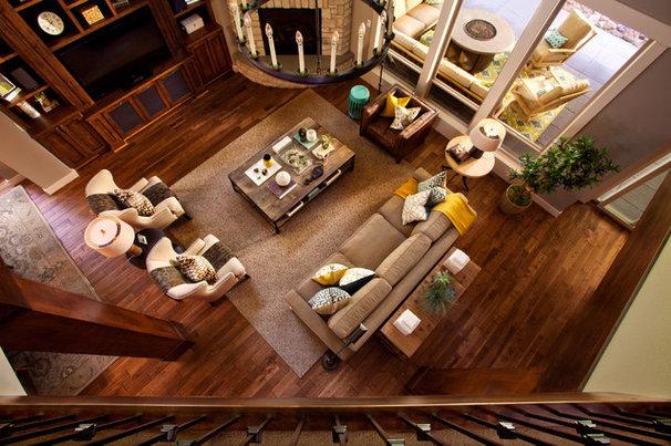 Transitional Living Room by Garrison Hullinger Interior Design Inc.