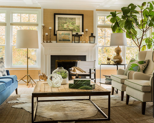 Transitional living room home design ideas pictures for Transitional living room decor