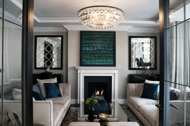 Современная классика Гостиная Transitional Living Room