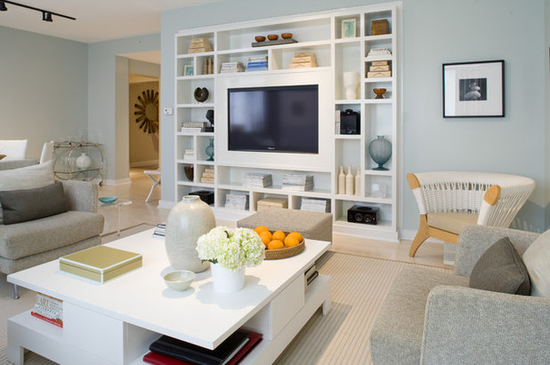 Transitional Living Room by the orpin group, interior design