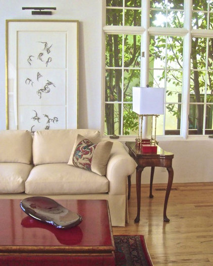 Transitional Living Room by Innerspace Interior Design LLC