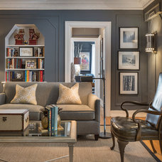 Transitional Living Room by This Is KC