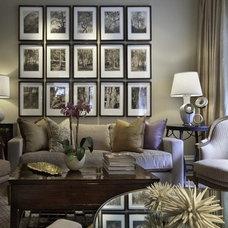 Transitional Living Room by Carmel Decor