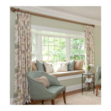 Transitional Living Room in Westport, CT