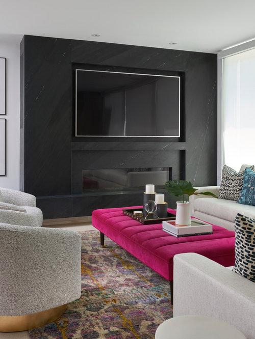 klassische wohnzimmer mit schwarzer wandfarbe ideen. Black Bedroom Furniture Sets. Home Design Ideas