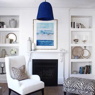 Large transitional living room in Sydney.