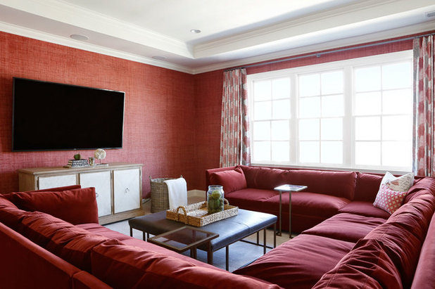 Transitional Living Room by Katy Bell Hamnes