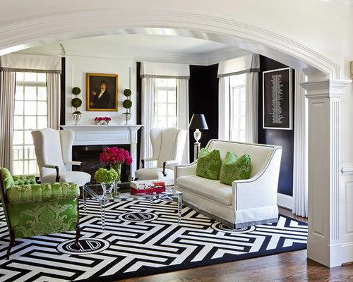 foto e idee per living  living classico con pareti nere, Disegni interni