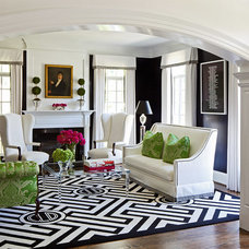 Transitional Living Room by Kellie Burke Interiors