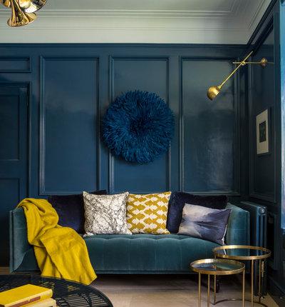 coppia colore mai provato giallo senape e blu indigo. Black Bedroom Furniture Sets. Home Design Ideas