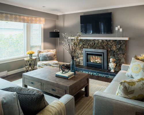SaveEmail - Tan And Gray Living Room Houzz