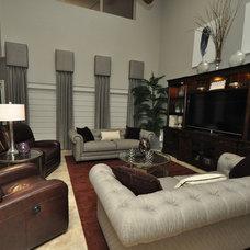 Transitional Living Room by Salazar Custom Interiors