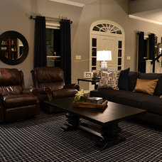 Transitional Living Room by Mizell & Moore Interiors Dallas