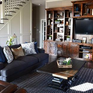 Ralph Lauren Style Living Room Transitional Idea In Dallas