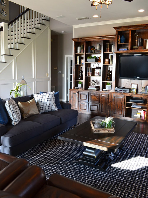 Transitional Living Room Idea In Dallas Part 18