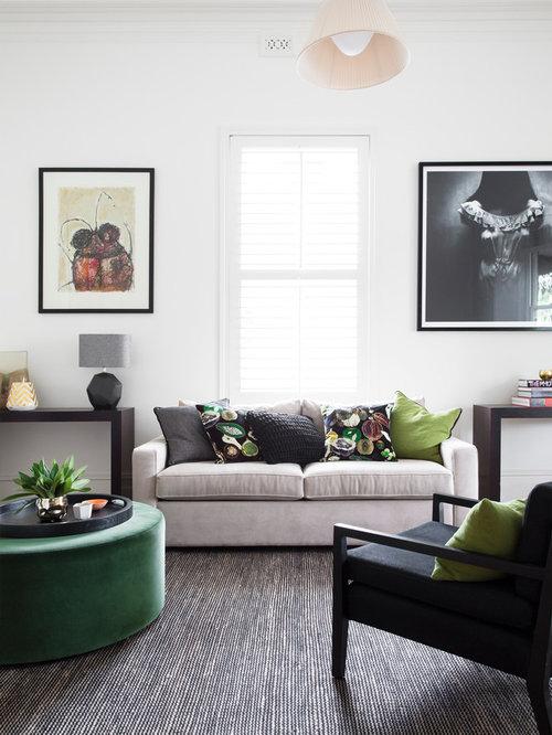 Mid sized transitional living room design ideas for Medium sized living room