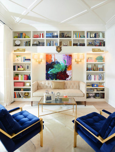 Transitional Living Room by Redo Home & Design