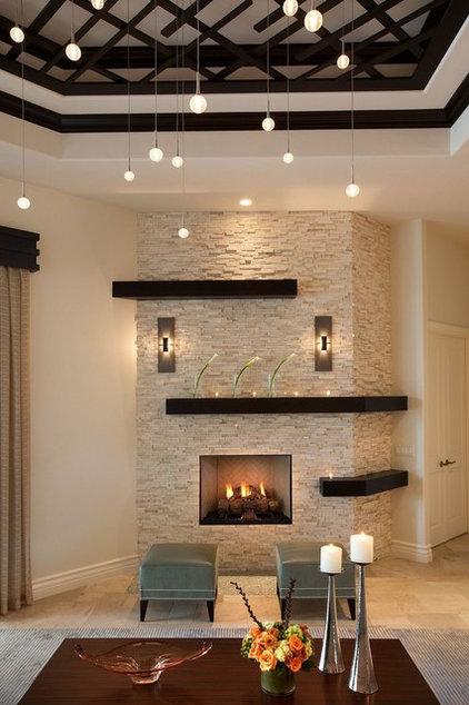 Transitional Living Room by Renée Gaddis Interiors