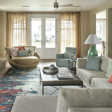 Transitional Living Room by Robert Legere Design