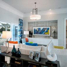 Contemporary Living Room by Romanza Interior Design
