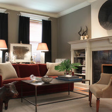 eclectic living room by Sean Michael Design